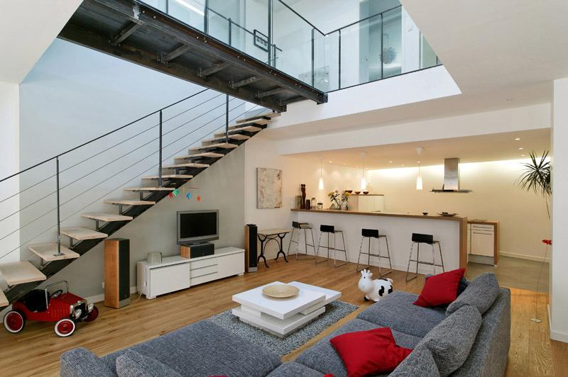 cr ation d un loft dans un ancien atelier clermont ferrand 63 mines architecture beno t prin. Black Bedroom Furniture Sets. Home Design Ideas
